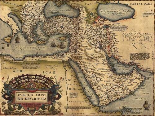 Map of the Ottoman Empire, 1570Credit...Everett Collection Historical, via Alamy