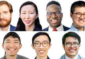 Top row: Nikolas Oktaba, Katherine Fang, Harold Ekeh, Ryan Dz-Wei Chow; Bottom row: Jonathan Herrera Soto, James Diao, Sergio Infante